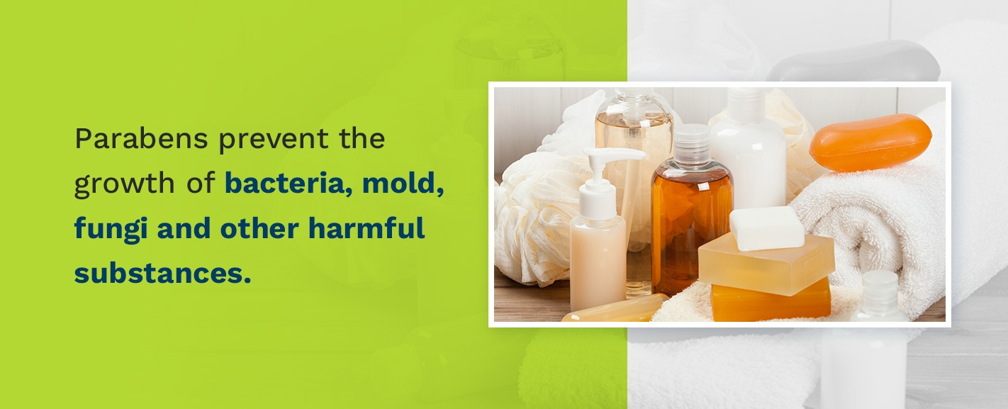 Parabens prevent the growth of bacteria, mold, fungi and other harmful substances.