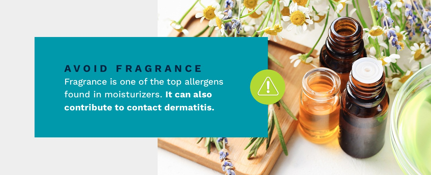 Fragrance is one of the tp allergens in moisturizers